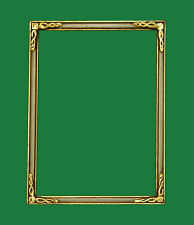 "5"" X 7"" Handcrafted Gold Leaf w/ White Panel Picture Frame Husar Newcomb Macklin"