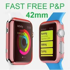 Red Slim Thin Hard Snap On Case Cover Screen Protector Apple Watch iWatch 42MM