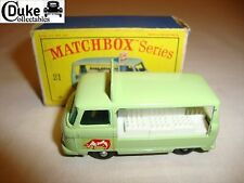 LESNEY MATCHBOX REGULAR 21C MILK DELIVERY TRUCK - EXCELLENT in original D BOX