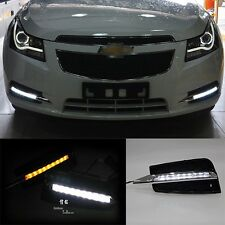 DRL LED FOR Chevrolet Cruze 2009-14 Daytime Running Lights Turn Signal Fog Lamp