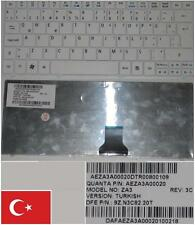 CLAVIER QWERTY TURQUE Acer One 751 ZA3 9Z.N3C82.20T AEZA3A00020 Blanc