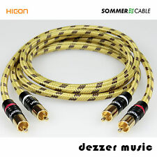 2x 0,5m Cinch-Kabel Classique Hicon Gold / Sommer Cable/ High End…Spitzenklasse