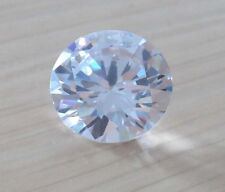 18mm 30.08ct Round Shape Faceted Cut VVS Loose Gems AAA Natural White Zircon