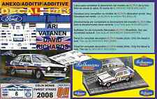 """ANEXO DECAL 1/43 FORD ESCORT ARI VATANEN """"COLIN MCRAE FOREST STAGES 2008"""" (02)"""