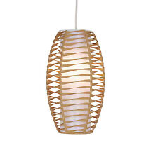 Natural Twist Paper Pendant Ceiling Light Non Electric Light Shade Easy Fit