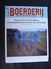 0073) BOERDERIJ Wochenblatt Niederlande - Pflugtest - Prospekt Brochure 09.1997