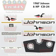 1967 Johnson 6HP CD-24 Sea Horse Outboard Reproduction 13 Pc Marine Vinyl Decals