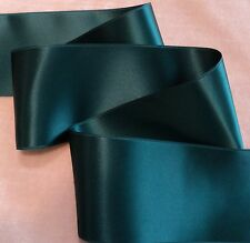 "2-3/4"" WIDE SWISS DOUBLE FACE SATIN RIBBON-  TEAL"