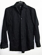 Hugo Boss Shirt 15.5 32 / 33 Black Mens Sharp Fit 15 1/2 Dress Shirt Long Sleeve