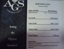 AGS CERTIFIED .55CT G/VS1 Round Diamond Same Company that Hearts on Fire uses!