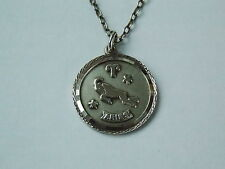 925 Sterling Silver Nuvo Aries Pendant & Silver Cable Chain