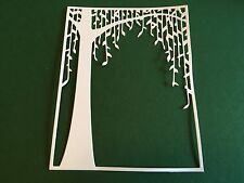 10 x WEEPING WILLOW TREE background die cuts**FREE UK POSTAGE***
