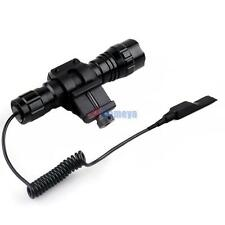 1000LM CREE Tactical Rifle T6 LED Flashlight Torch+Remote Switch+Weaver Mount