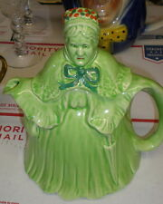 Early Vintage Little Old Lady Teapot Pitcher Made in England Umbrella English