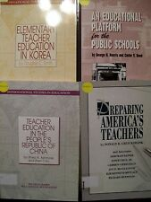 Lot of 4 Educational Platform l, Teacher Education in Korea & China and.........