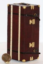 Dollhouse Miniature Large Travel Trunk in Red by Heidi Ott