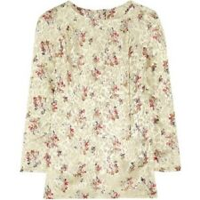 NWT $360 See by Chloe Burnout Floral Blouse size 4 Style LC 94500T7079 Dept 0072