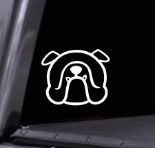 2 - Cute English Bulldog Face Outline Vinyl Decal Stickers Car Window laptop USA