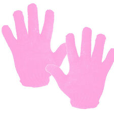 2 X Thermal Pink Heat Resistant Glove Hair Styling Tool Hot Stick Curing Iron