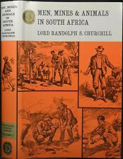 MEN MINES & ANIMALS in S AFRICA CHURCHILL RHODESIA BIG GAME HUNTING 1890s Mining