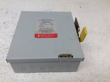 Cooper Crouse-Hinds GU321 240 VAC 30 Amp General Duty Enclosed Switch Disconnect