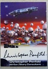 SPACE 1999: AUTOGRAPH CARD: CHRISTOPHER PENFOLD - WRITER CP1