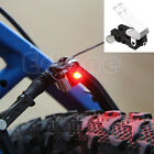 Portable Mini Brake Bike Light Mount Tail Rear Bicycle Cycling Led Light New