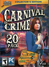 BLUE TEAR Hidden Object Collector's Ed CARNIVAL OF CRIME 20 PACK PC Game NEW