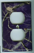 Realtree PURPLE Outlet Cover Camo Deer Hunting Single Toggle Plate Camo Ladies