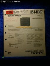 Sony Service Manual HST D307 Component System  (#1594)