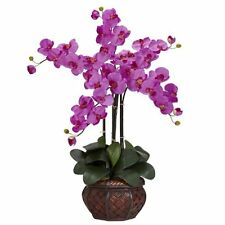 Nearly Natural Phalaenopsis with Decorative Vase Silk Flower Arrangement- Orchid