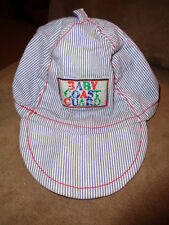 Hat Baby Coast Guard for Newborn cotton Infant stripes 12/18 elastic strap