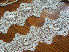 2Y Exquisite Ivory Venise Lace Trim  Loverly Lace Retro Style