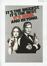 "2002 Vintage JAMES BOND 007 ""IT'S BOND AND BEYOND"" MINI POSTER ART Lithograph"