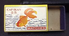 Vintage CAP IKAN  Empty Safety Matches Box