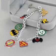 Unusual Nine Charm DC JUSTICE LEAGUE  Bracelet  Batman // Superman etc