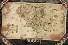 LORD OF THE RINGS THE HOBBIT MIDDLE EARTH MAP POSTER PRINT NEW 22x34 FREE SHIP