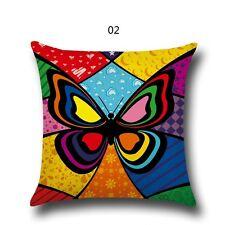 Cotton Linen Pillow Cover Sofa Pillowcase Modern Butterfly pattern Home Decor