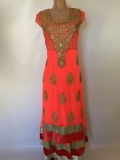 IBC $240 Retail $499 Size 44 46 48 50 Original Crystal Work Indian Anarkali suit