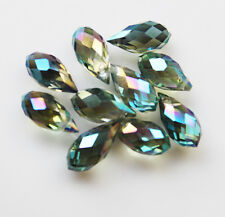 6x12mm10pcs Top-drilled Faceted Glass Crystal Teardrop Beads B176