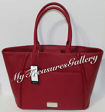 NEW Nine West Town Car Large Tote Handbag Purse Red $89
