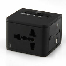 Worldwide  Multi purpose Travel Dual USB Charger  Power Adapter Surge Protected
