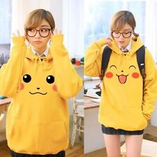 Japan Pokemon Pikachu Hoody Ears Face Tail Zip Sweatshirt Hoodie Costume
