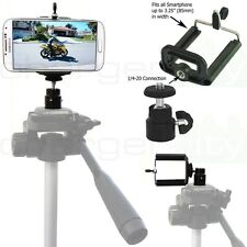 Apple iphone 5S 5C 5 4 Video Camera Recording Tripod Adapter w 1/4-20 Connection