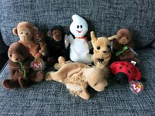 Lot of 8 Ty Beanie Babies plush in MInt condition with original ear & hush tags