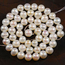 """Wholesale 5 Strands 8-9MM White Freshwater Cultured Pearl Loose Beads 14.5""""AA"""