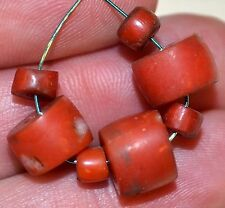 Antique Natural Red Coral Bead Collection From Yemen - African Trade Beads