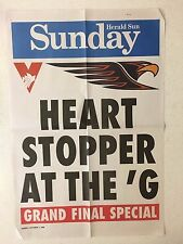 2006 HERALD SUN GRAND FINAL BANNER/ POSTER SYDNEY SWANS VS WEST COAST EAGLES