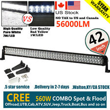 "CREE 6D+ 42""INCH 560W LED WORK LIGHT BAR SPOT FLOOD COMBO OFFROAD UTE SUV VS 7D+"