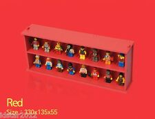[IDSTAR] Red Color Lego Minifigure Display Case for 16pc [Sliding Door]